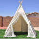 AIYOU lesi design Kids Play Tent Indian Teepee Children Playhouse