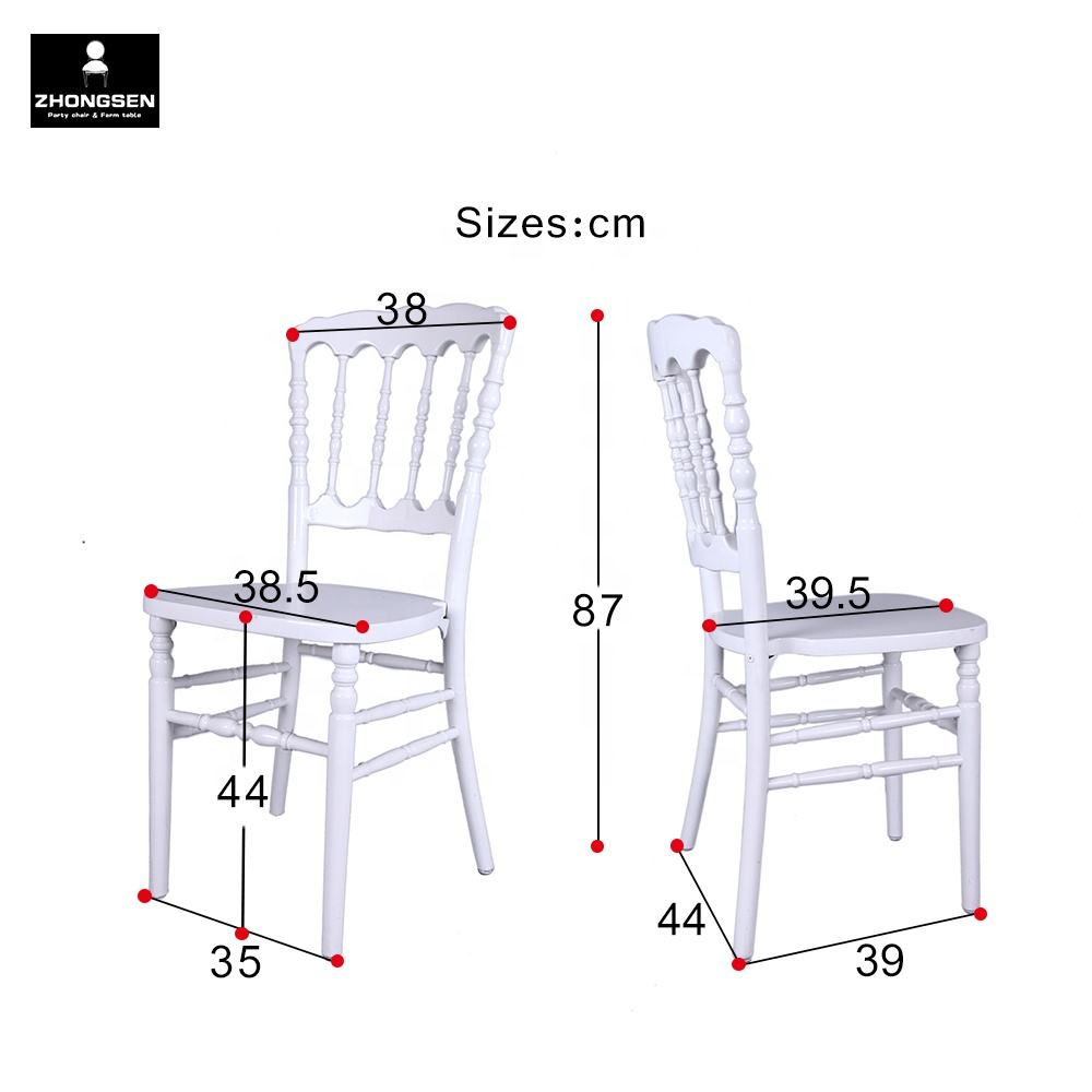 Cheap Outside Garden Wedding Rental Ivory Napoleon Chair in Low Price
