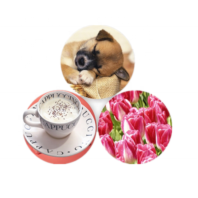 PET/PP printing 3D lenticular customized EVA rubber coaster,Cup Mat,placemat