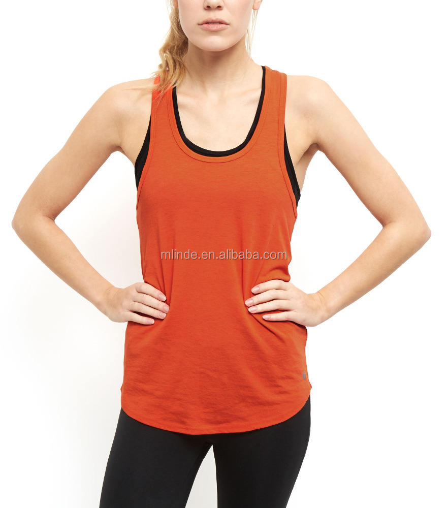 Grosir Athletic Wear Kustom Jeruk Mesh Kembali Olahraga Rompi Womens Workout Tank Top
