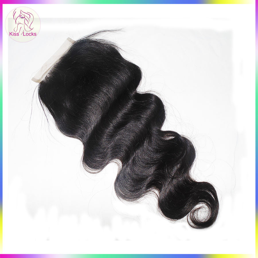 Wholesale Price Hair Product Trade Body Wave Lace Closure Malaysian Durable Remy Human Hair