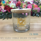 yufeng laser engraving glass candle containers