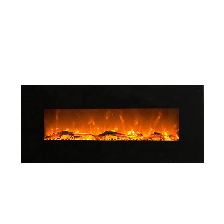 China manufacturer indoor wall mounted hanging electric fireplace with low MOQ