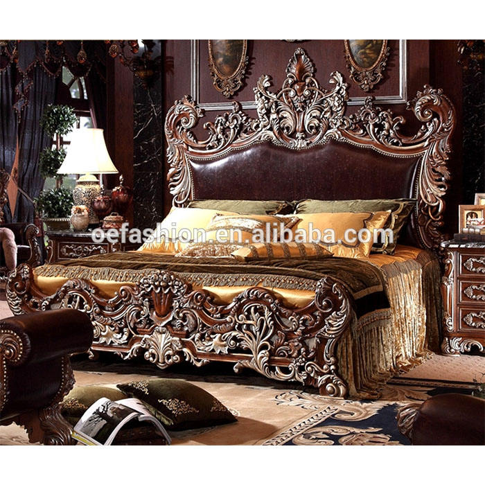 OE-FASHION latest soft leather beds in china beds bedroom furniture