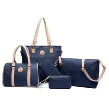 Hot sale 6 pcs lady set bag Women handbag with shoulder bag+Totes+clutch+key holder
