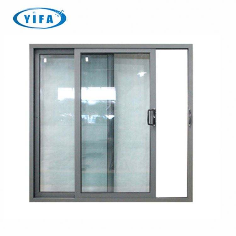 Powder Coated Aluminium Sliding Door And Window Rail Section Decorative Aluminium Gate Bedroom Swing Sliding Door Rail Track