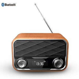Orador bluetooths sem fio naturalife, rádio retro fm bluetooths com display led