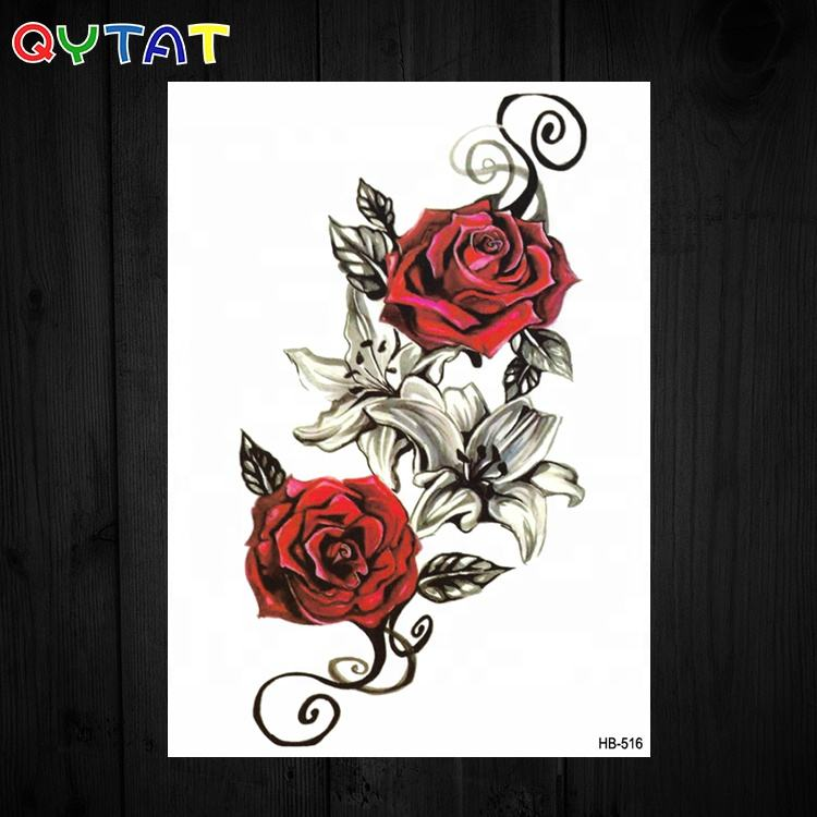 Custom Premium Long Lasting Printing Fashionable Design Water Transfer Body Temporary Tattoo