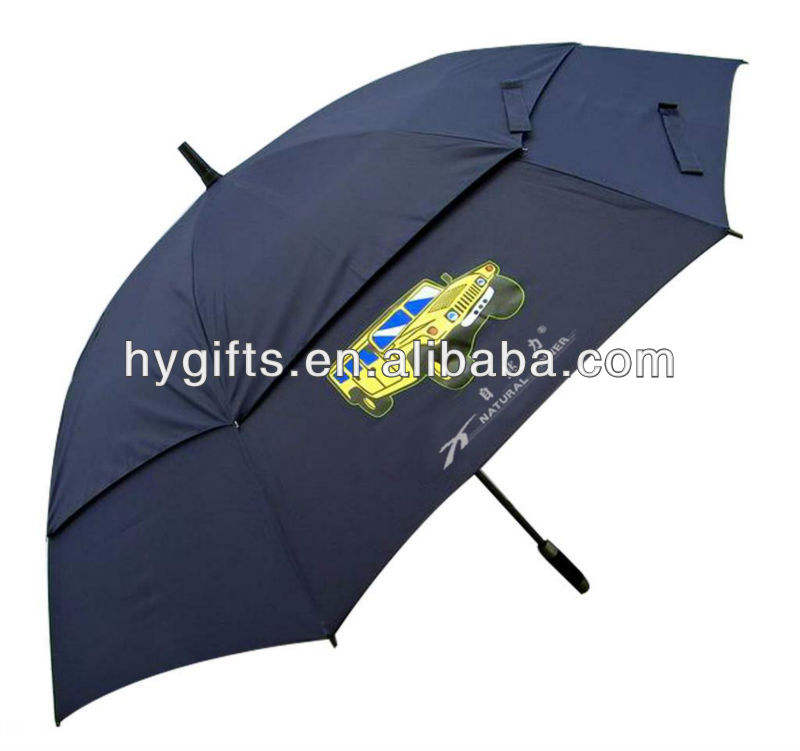 Auto open straight twin umbrella
