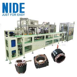 Fully automatic induction motor stator production manufacturing assembly line for electric motor
