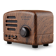 Hot selling Portable Mini Style Retro Radio Wooden Wireless Stereo BT01 Bluetooth Speaker with Christmas Gift
