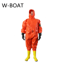 Simple light chemical protection suit with test report semi-closed light chemical protection suit Marine fire protection