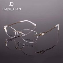 Specially price brand metal eyewear frame optical fashion glass for women