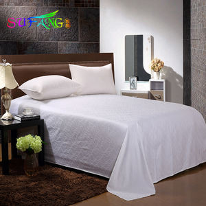 Hotel bedding/ Best quality White duvet cover set 100% cotton satin bed sheet