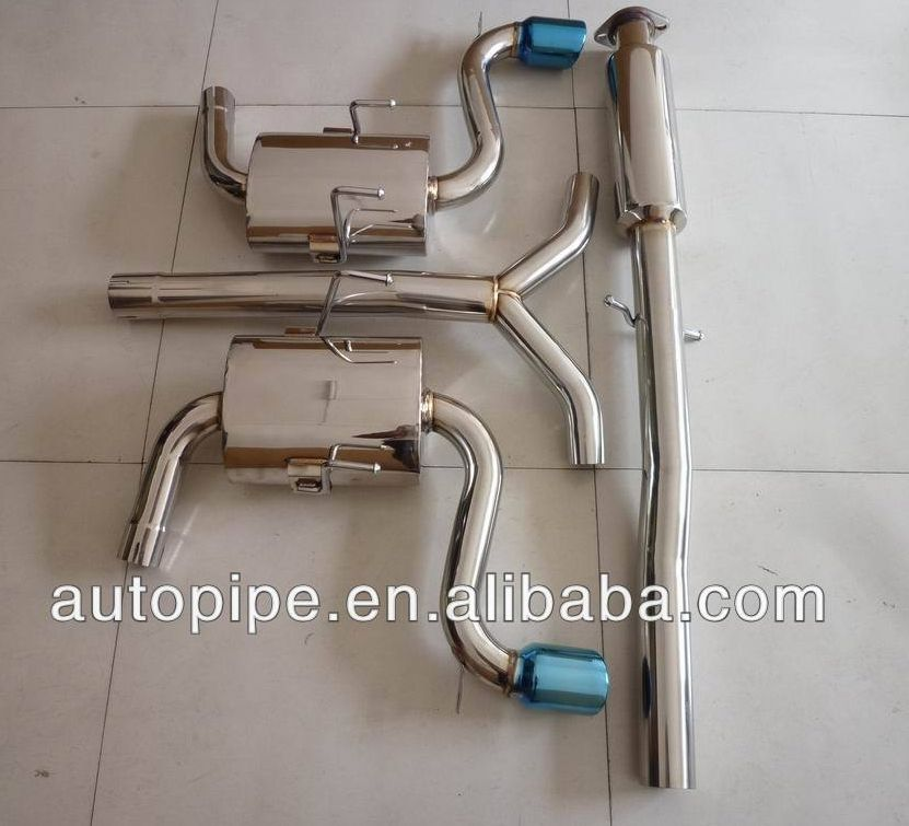 """3/""""DUAL TIP SS RACING CATBACK EXHAUST SYSTEM FOR 02-03 MINI COOPER//S R50//52//53"""