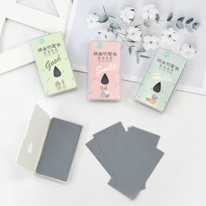 New product bamboo charcoal facial tissue make up oil blotting paper for oily skin