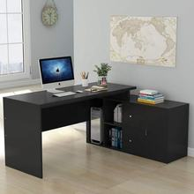 Wooden Computer Desk With Pull Out Keyboard Tray Workstation Home Furniture