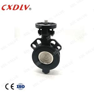 Manufacture Ductile iron wafer lug butterfly valve dn200