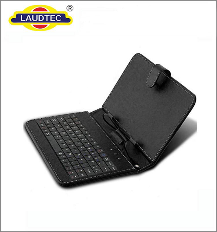 universal pu leather case for tablet with keyboard, 7'' 8'' 9'' 10'' universal tablet case