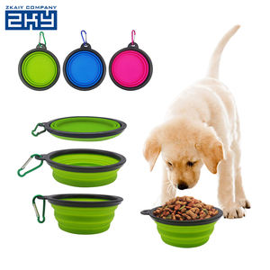 Custom Foldable Non-stick Silicone Feeding Food Travel Pet Bowl,Silicone Collapsible Dog Bowl Folding Pet Water Bowl