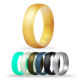 Silicone Ring Men's Ring Wedding Band Silicone Rings for Men