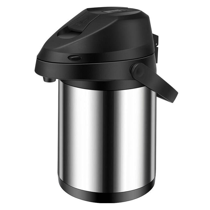 2.5/3LStainless Steel Airpot Thermal Coffee Carafe Airpot Dispenser Vacuum Insulated Flask Press Jug 12 Hour Hot 24 Hour Cold