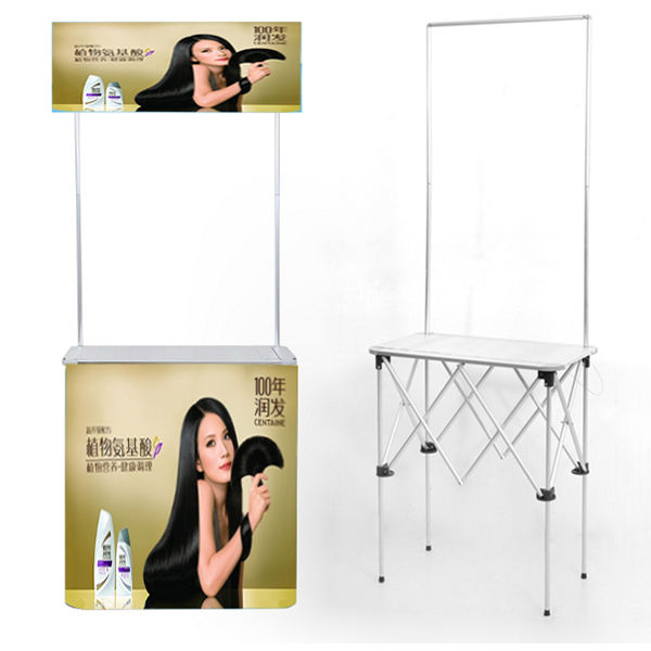 Advertising Plastic Promotion Counter/Portable Economic ABS Plastic Promotion Table