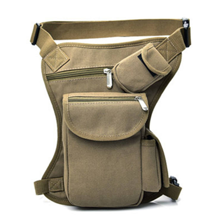 Multifunction Canvas Riding Waist Pack Thigh Pack for Men Women Military Motorcycle Drop Leg Bags