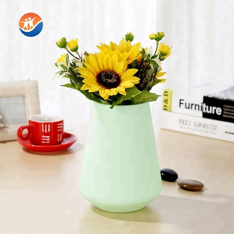 kind of good sell Paint process elegant coloured glass flower vase