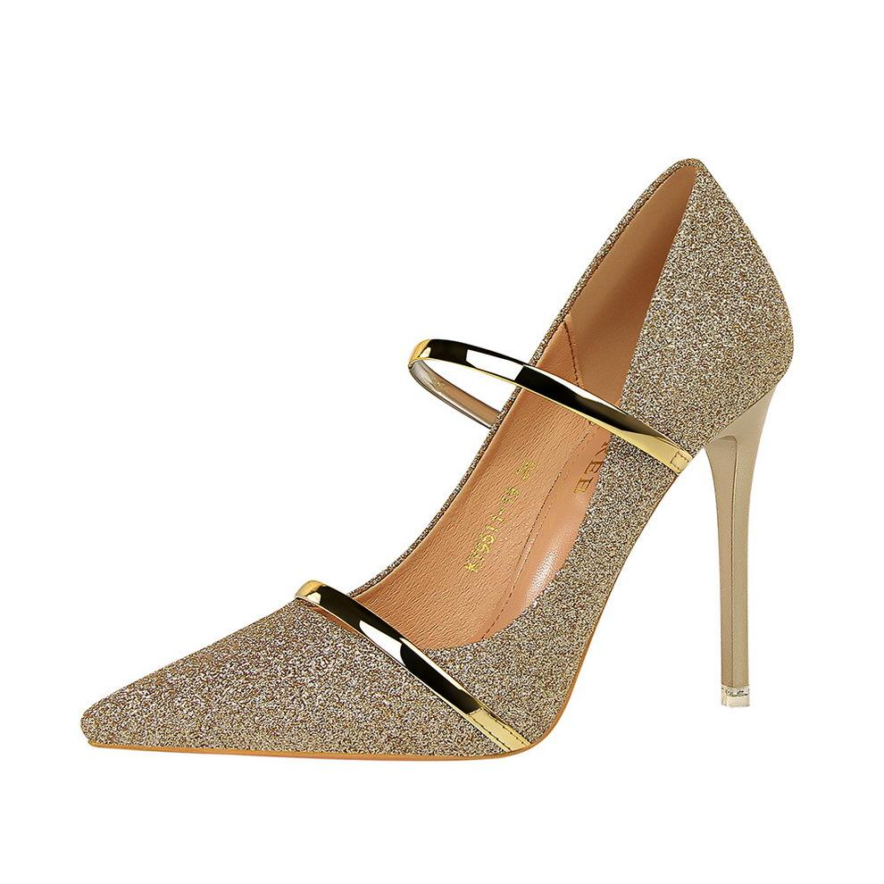 Zapatos De Tacon Bigtree Shoes Factory New Designer Sequin Point Toe Pumps Pleaser Shoes Elegant Women High Heel for Ladies