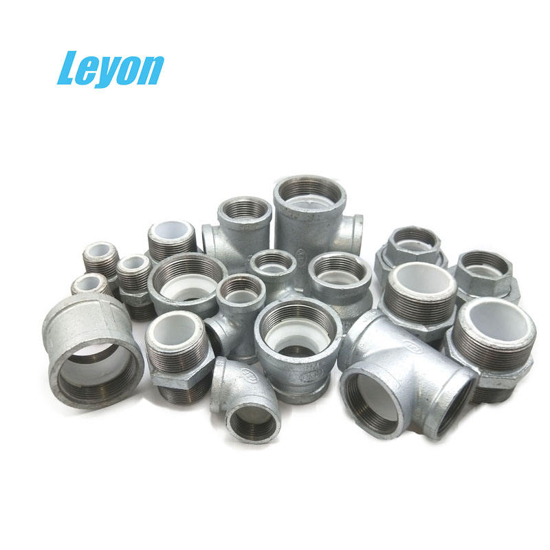 Galvanized iron pipe Fitting BSP NPT threaded Malleable Iron Plumbing materials galvanized steel pipe fittings