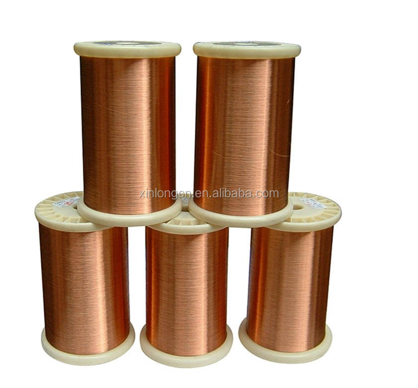 Enameled copper clad aluminum round wires for induction cooker