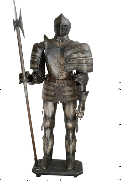 MEDIEVAL FULL SUIT OF ARMOR, ARMORY COSTUME