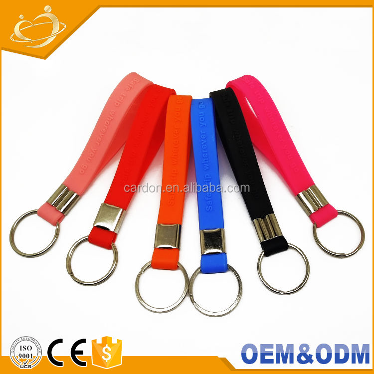 Factory Wholesale Colorful Silicone Members Key Chain Bag Car Funny Safe Trip Key Ring Accessories