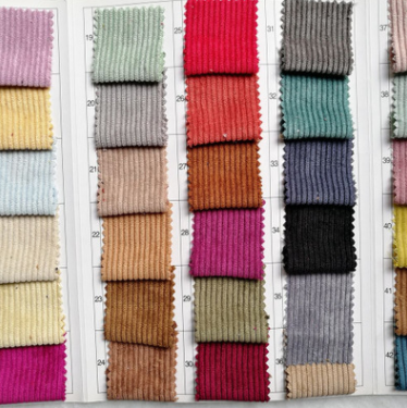 100% cotton 24 wale corduroy woven dyed fabric wholesale for shirt/dress/pants/trousers/jacket woven corduroy fabric