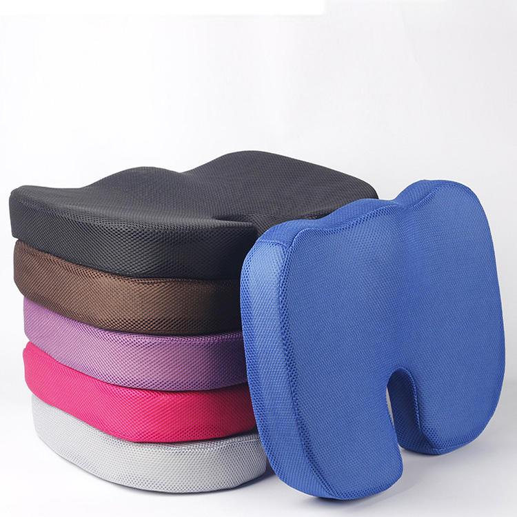 Office Chair Colorful Back Cushion Memory Foam U Shape Coccyx Orthopedic Seat Cushion