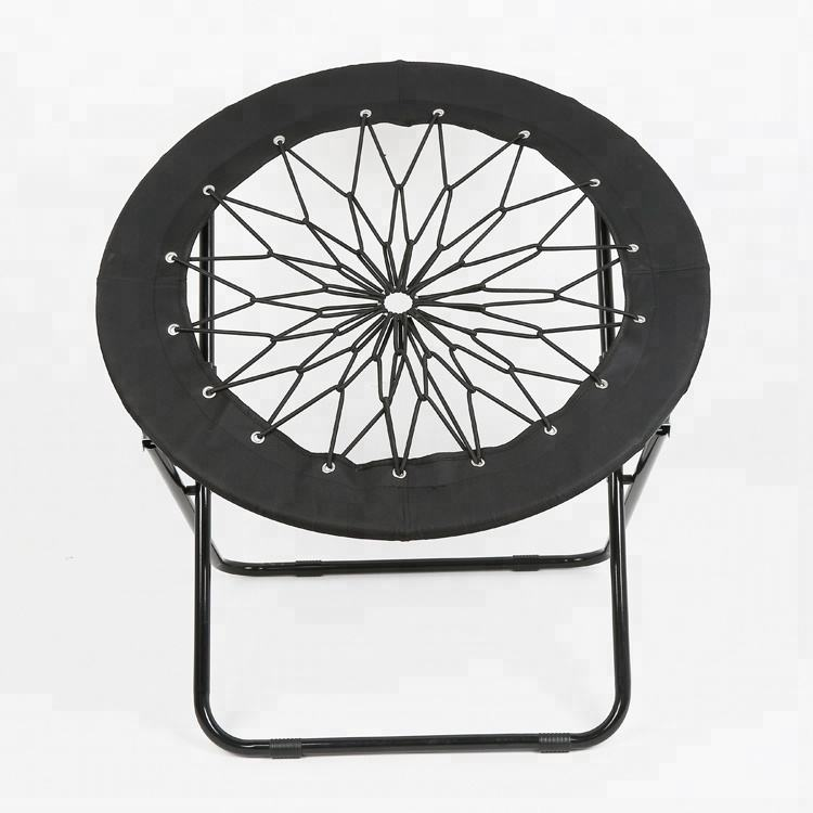 Round bungee folding camping elastic cord chair