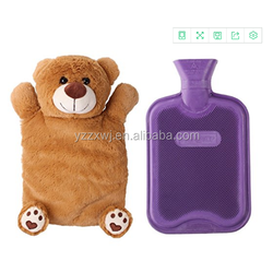 plush animal Hot water bottle cover/Water Bottle with Cute Stuffed Animal Cover/animal shaped hot water bottles case