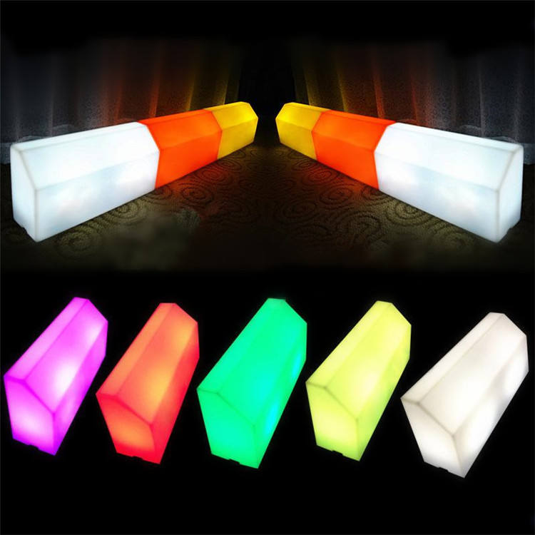 Plastic lighting parking blocks curb stone led Curb Yard Garden Lighting curbstone for streets road