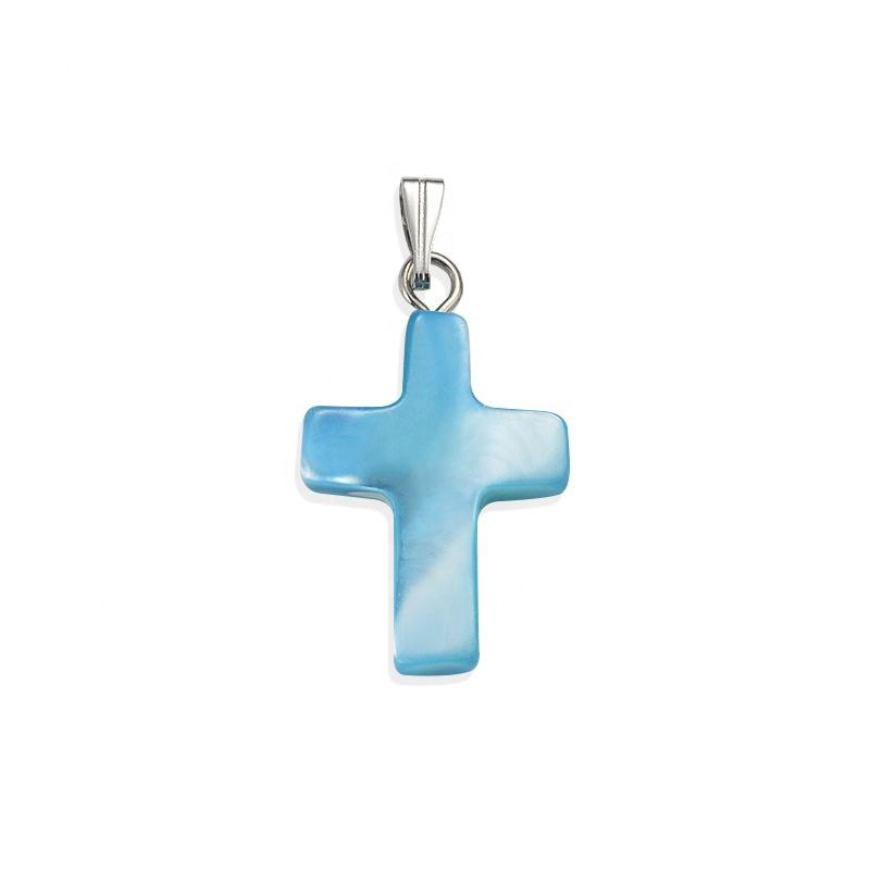 Mother Of Pearl Shell Cross Pendant Charms For Jewelry Making