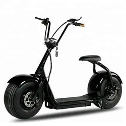 Fat Tire eec electric scooter with pedals China with Removable Battery citycoco 1500 w motorcycle