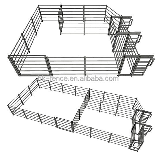 Farm Animal Used Livestock Fence / Cattle Horse Sheep Panels And Corral Gate