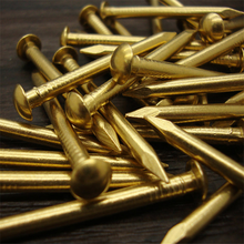 Fastener Round small copper nail Antique drum Furniture hinge Brass nails 8 10 12 15 18 21 30 35mm Hardware Accessories