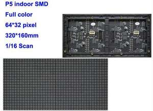 Indoor P5 Dua Modul Dalam Satu 1/16 Scan SMD3528 3in1 RGB LED Display Full Color Unit Modul 320*160 MM 64*32 Piksel