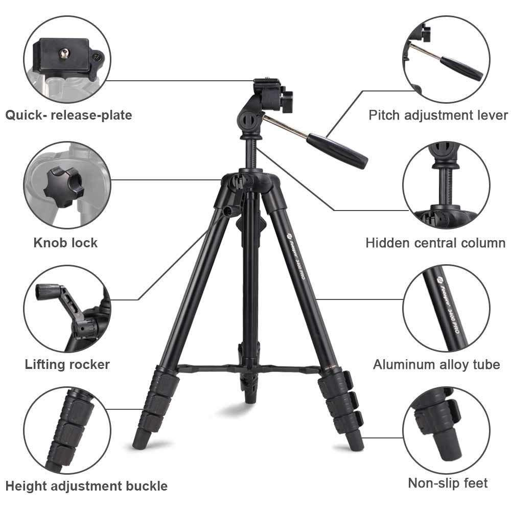 FOTOPRO High quality aluminum portable digital camera tripod