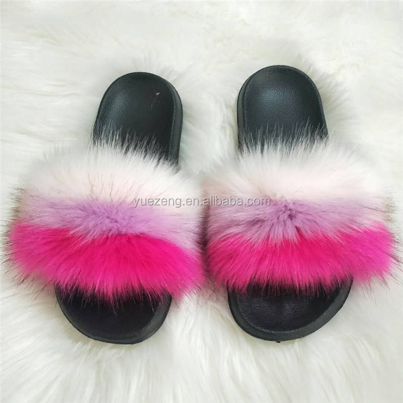slide sandal slippers women furry slides