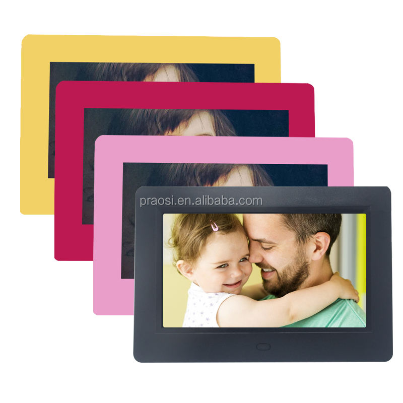7 inch rechargeable battery operated hd lcd electronic digital photo/picture frame/album with video auto/loop play
