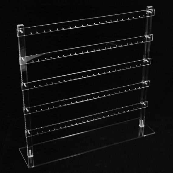 Clear Acrylic Ladder Earring Display Stand Lucite Jewelry Display Stand for 25 Pairs Earring