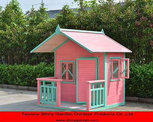 garden wooden villa house models