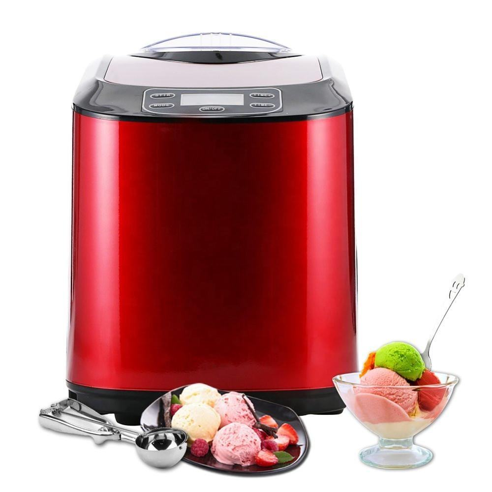 Red ice cream maker with ETL, CE, DGCCRF